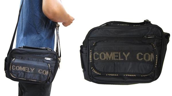 ~雪黛屋~COMELY 斜側包小容量防水尼龍布材質二層主袋+外袋共四層外袋可5.5寸手機C2024