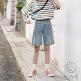高腰牛仔短褲夏季新款百搭寬鬆休閒短褲【小酒窩服飾】