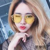 韓國夜視鏡黃色個性透明太陽眼鏡