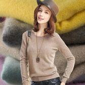 套頭圓領短款寬鬆羊毛衫秋冬季打底衫