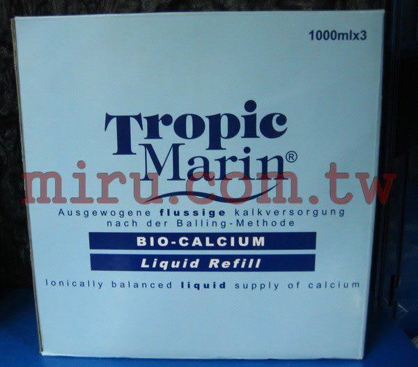 【西高地水族坊】Tropic Marin 海洋生化鈣補充液3*1000ml