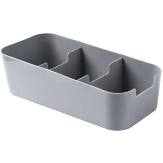 分類整理盒 分格 收納盒 儲物盒 小物 櫥櫃 可疊加 梯形 貼身衣物 襪子盒 三格收納盒【K129】MY COLOR