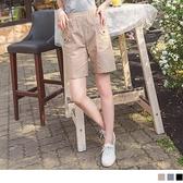 高含棉鬆緊腰鈕釦造型多口袋短褲 OrangeBear《BA6195》