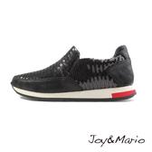 【Joy&Mario】閃亮亮片個性運動休閒鞋 - 73031W BLACK