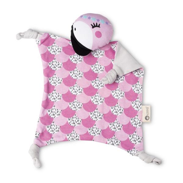 澳洲 Kippins 有機棉安撫巾 可可火鶴