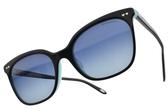Tiffany&CO.偏光太陽眼鏡 TF4140F 8055-4U (黑藍-漸層藍鏡片) 經典愛心貓眼款 偏光墨鏡 # 金橘眼鏡