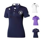 高爾夫衣服女裝運動短袖T恤 夏服裝女速干時尚球衣上衣polo衫