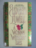 【書寶二手書T9/原文小說_MSA】A Woman Without Lies_Elizabeth Lowell