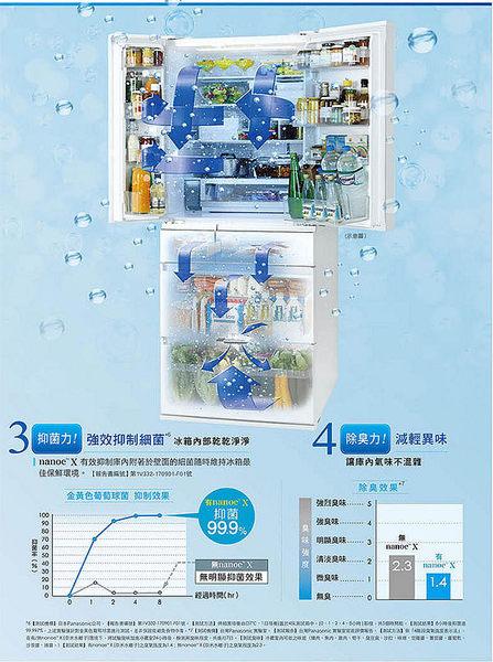『Panasonic』☆ 國際500L 1級變頻3門電冰箱 NR-C500NHGS  *免費基安+舊機回收*