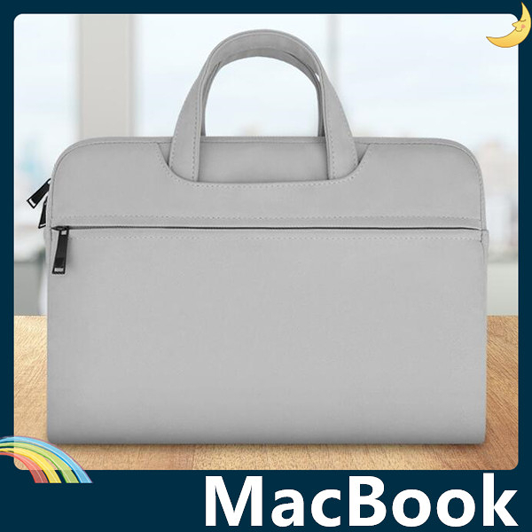 MacBook Air/Pro/Retina 磨砂皮紋保護套 防水耐磨 輕薄簡約 可側/斜背 筆電包 電腦包 手拿包 支援全機型