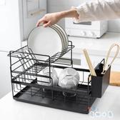 廚房置物架多功能晾碗架放碗盤子架瀝水架抽屜式【奇趣小屋】
