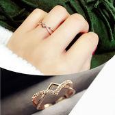簡約氣質百搭日韓潮人戒指女韓版指環夸張女戒韓國飾品學生戒指 一次元