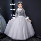 女童高端晚禮服公主裙花童鋼琴演出服主持人走秀兒童婚紗 快速出貨