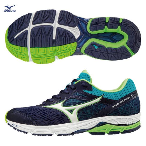 美津濃 MIZUNO 男慢跑鞋 WAVE EQUATE2 支撐型 中低足弓適用 J1GC184802