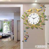 美式田園創意藝術鐘表大掛鐘客廳靜音簡約家用個性時尚臥室石英鐘 DN17200『東京潮流』TW
