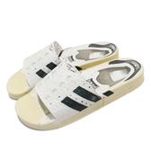 adidas 涼拖鞋 Adilette Superstar 白 黑 男鞋 拖鞋 復古奶油底 貝殼頭造型圖樣【ACS】 FW6093