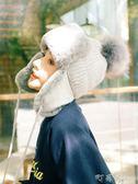 帽子女毛線針織雷鋒帽韓版騎車防風冬天保暖加厚加絨戶外滑雪【町目家】