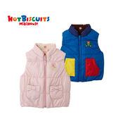 日本製 童裝 男女寶寶 加绒保暖背心 卡通布貼雙口袋 HOT BISCUITS【MIKIHOUSE】73-5702-619