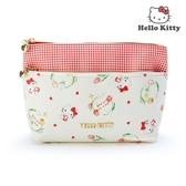 日本限定 三麗鷗 HELLO KITTY 凱蒂貓 HAPPY SPRING 雙層 化妝包 收納袋