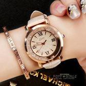 LSVTR流動水鑚女錶韓國時尚韓版潮流女學生皮帶防水石英手錶