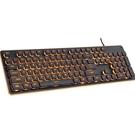 鍵盤 機械手感鍵盤游戲吃雞背光巧克力us...
