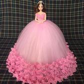 (中秋大放價)婚紗公主芭比娃娃新娘結婚女孩閨蜜生日情人節新年禮物兒童玩具擺件