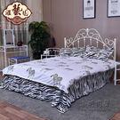 鐵藝床鐵床雙人床單人床簡易鋼木床宿舍床鐵架床1.2*1.5米 igo 小明同學