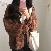 梨卡 - 秋冬氣質甜美寬鬆麻花編織顯瘦針織外套BR150