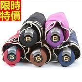 雨傘-摺疊傘純色黑膠商務三折自動遮陽傘5色66aj43【時尚巴黎】