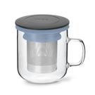 丹麥泡茶玻璃杯350ml 2.0(黑+藍...