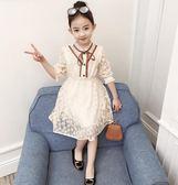 女童春裝連身裙2018新款韓版裙子兒童中大童蕾絲韓版寶寶公主裙潮 桃園百貨