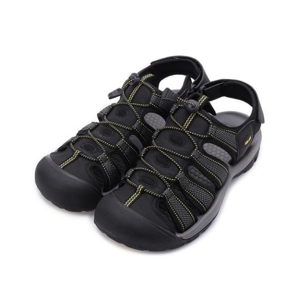 RED ANT 束口織帶護趾涼鞋 黑 男鞋