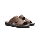 WALTZ-荔枝紋大眾男拖鞋632059-06棕