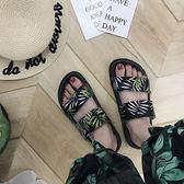拖鞋女外穿新款時尚學生原宿ins風厚底沙灘鞋子chic涼鞋潮 樂活生活館