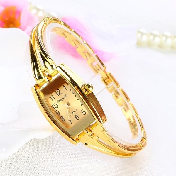 金色簡約小巧時尚女學生手錬手錶女士韓版潮流女錶復古防水石英錶 樂活生活館
