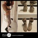 短靴 韓國 真皮 低跟 皺折柔軟 短靴 ...