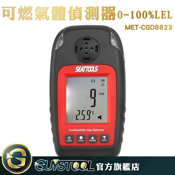GUYSTOOL  預防燃氣洩漏 石油氣 天然氣廠 環境安全 附儀器箱 丙烷 MET-CGD8823 氣體偵測器
