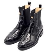 真皮中筒靴 油面雕花-經典切爾西霸氣虎頭男鞋子73kv40[巴黎精品]