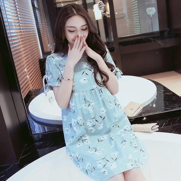 [618好康又一發]孕婦夏裝連衣裙時尚款2中長款上衣孕婦裝春裝