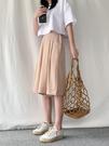 七分寬管褲女夏新款高腰雪紡垂感寬鬆裙褲冰絲a字顯瘦休閒褲子薄 果果輕時尚