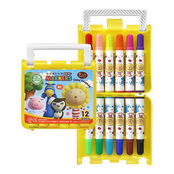雄獅 12色彩色筆(B盒)-閃亮亮