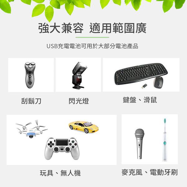 USB充電電池 3號環保電池【3顆免運】