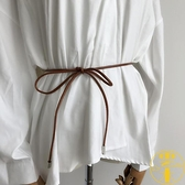 2條裝 韓版皮繩毛衣連身裙腰鏈腰帶打結皮草腰封【雲木雜貨】