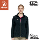 【Wildland 荒野 女 N66彈性透氣抗UV外套《黑》】0A81901/防曬夾克/防潑水薄外套/運動外套
