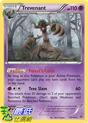 [美國直購] Pokemon Trevenant 55/146 Xy Rare Card