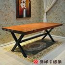 【新竹清祥傢俱】LRT-05RT02-美式工業杉木鐵藝萬用桌 餐桌 辦公桌 寫字桌 辦公桌 寫字桌