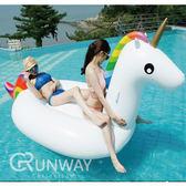 【送修補貼 拉繩】彩虹 獨角獸 白馬 座騎 充氣水上玩具 超大泳圈 造型浮板 海邊座椅浮床