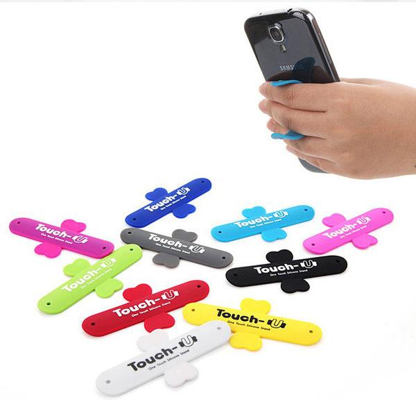 U型 十字 彈簧 支架 啪啪 手機架 平板 魔力貼 拍拍架 懶人支架 簡易手機座 iphone BOXOPEN