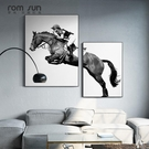 羅尚輕奢客廳裝飾畫馬創意組合墻畫現代簡約臥室壁畫北歐餐廳掛畫