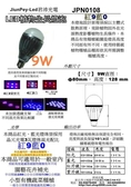 led植物生長燈研究8年發表9w植物生長燈泡紅9藍0JPN0108